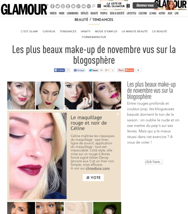 glamour article beaute