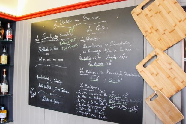 Le Bouchon de Bayeux Ardoise Menu