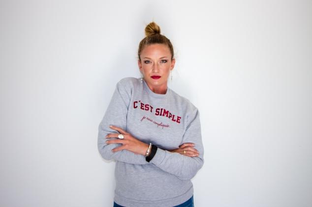 sweatshirt rad c'est simple je suis compliquee