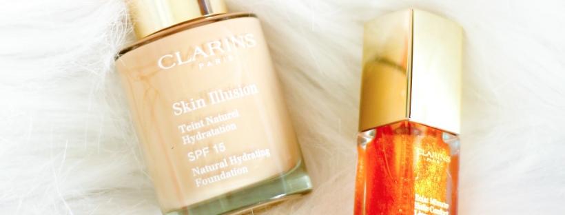 Tentez de gagner le concours Clarins et remporter le nouveau fond de teint Skin Illusion et l'éclat Minute Huile Confort pour les lèvres