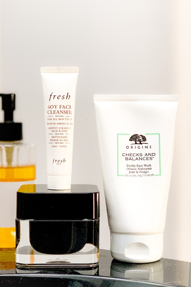 test du nettoyant visage fresh soy face cleanser origins checks and balances